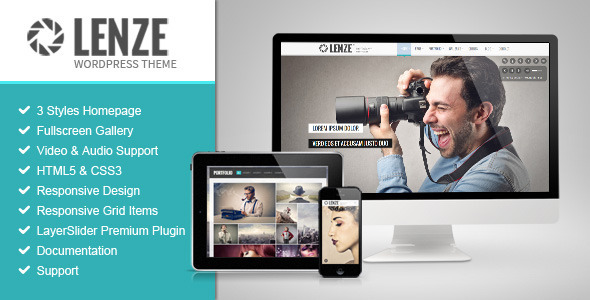 Lenze – Portfolio Photography WordPress Theme