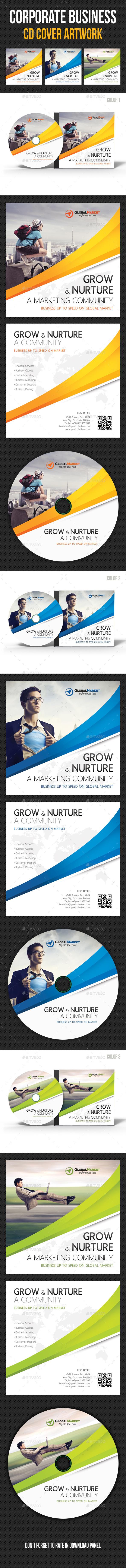 Corporate Business CD Cover Artwork V02 - CD & DVD Artwork Print Templates