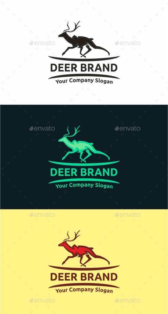 Deer Brand - Animals Logo Templates