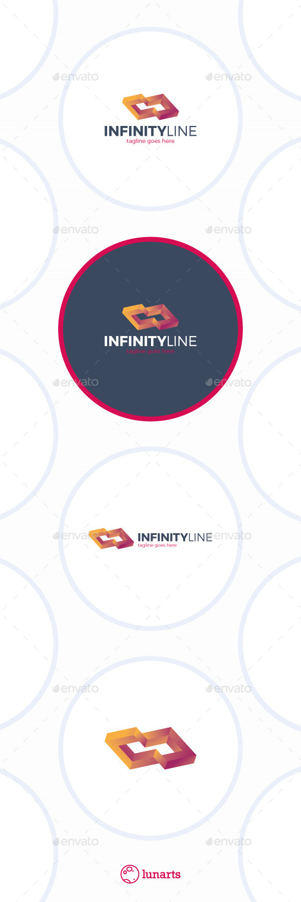Infinity Line Box Logo - Abstract Logo Templates