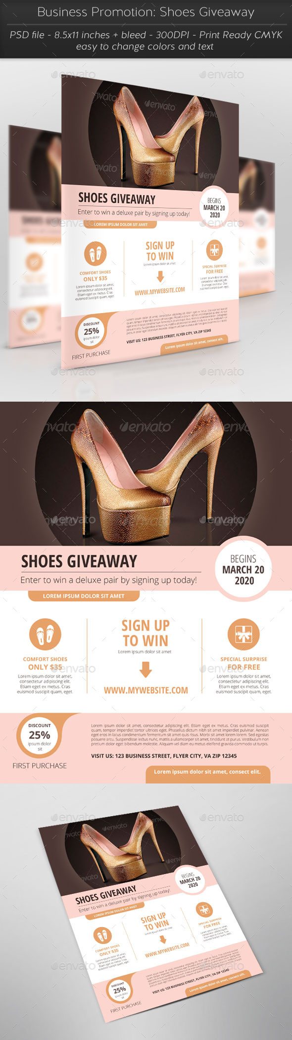 Business Promotion: Shoes Giveaway - Flyers Print Templates