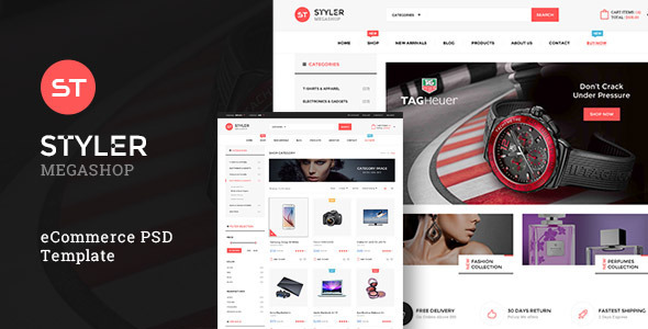 Styler Mega Shop - PSD Template - Shopping Retail