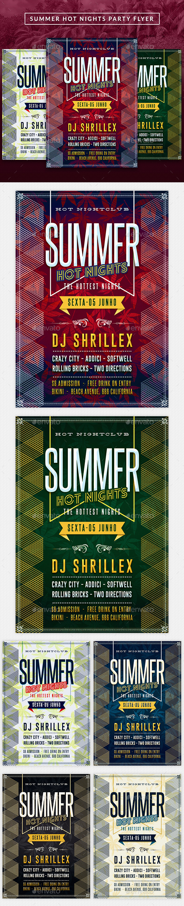 Summer Hot Nights Party Flyer - Clubs & Parties Events