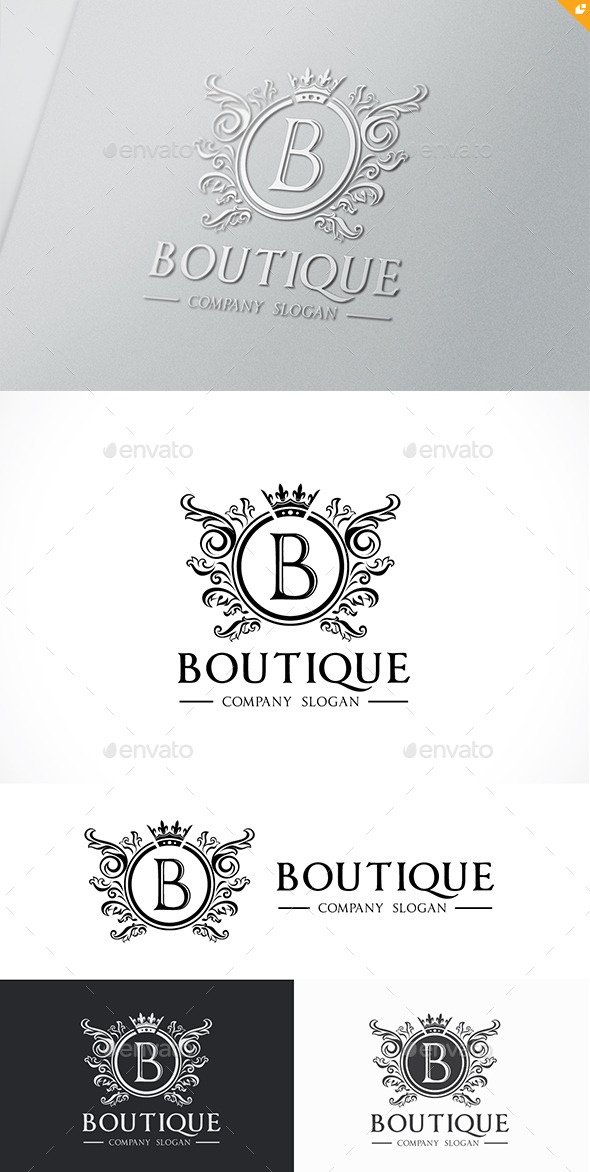 Boutique Logo Template - Crests Logo Templates