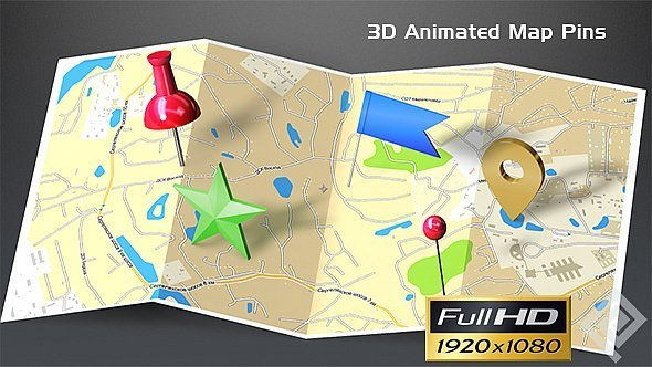 3d animated map pins by sergeypopov videohive