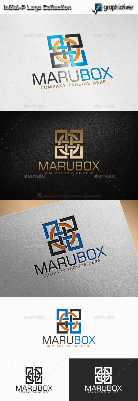 Maru Box - Circle Square logo - Abstract Logo Templates