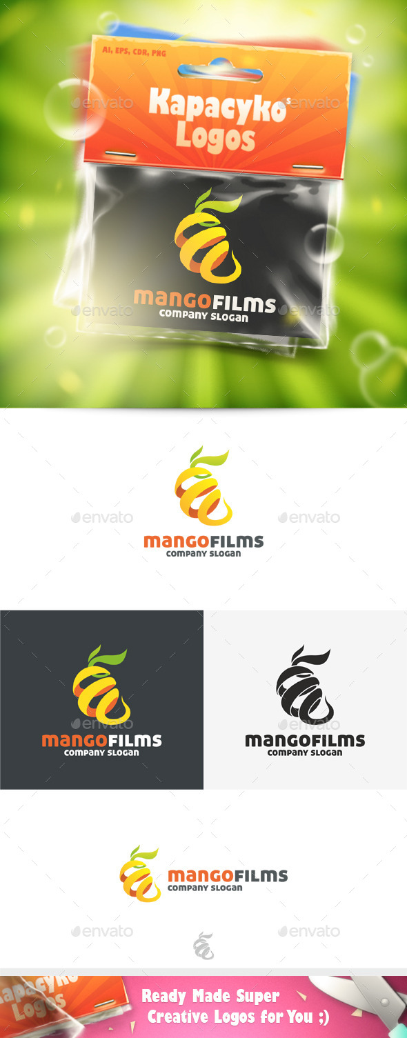 Mango Films Logo - Abstract Logo Templates