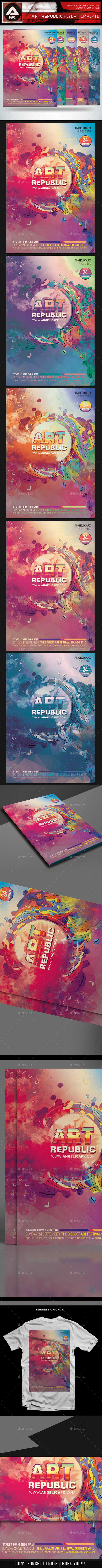 Art Republic Flyer Template - Events Flyers