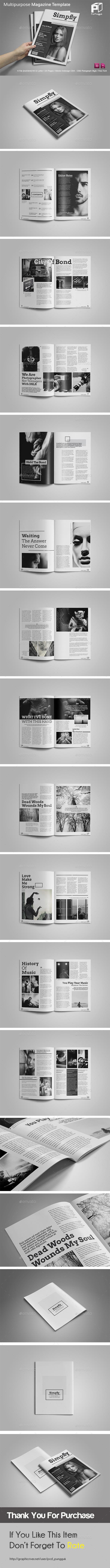 Black & White Magazine - Magazines Print Templates