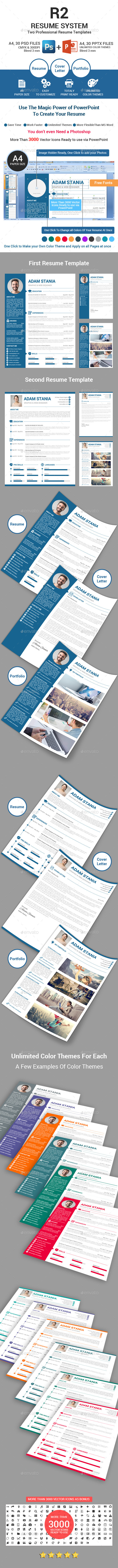R2 Resume Template System - Resumes Stationery