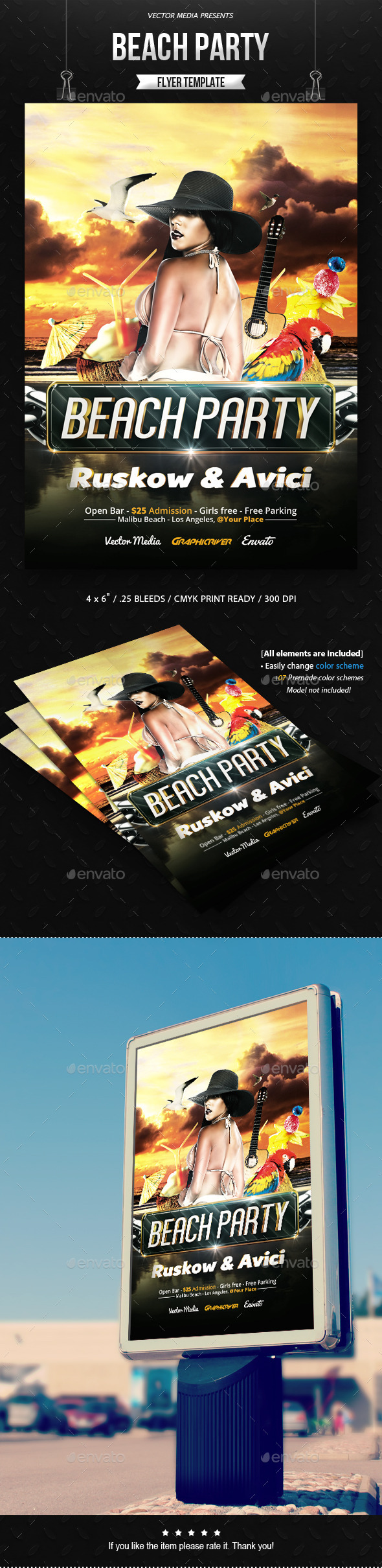 Beach Party - Flyer - Clubs & Parties Events