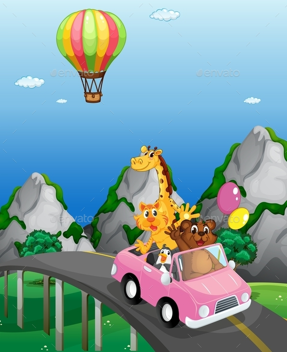 Road Trip - Animals Characters