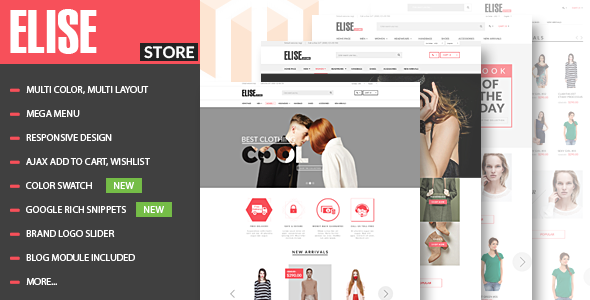 Elise – Advanced Fashion Magento Theme + Blog