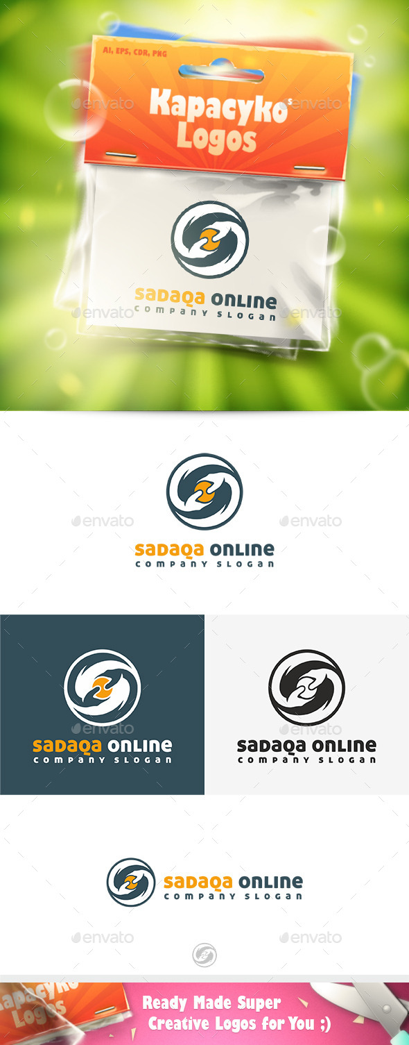 Sadaqa Online Logo - Abstract Logo Templates
