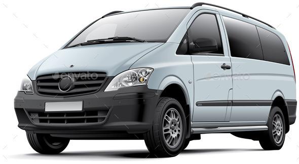 European Minicoach - Objects Vectors