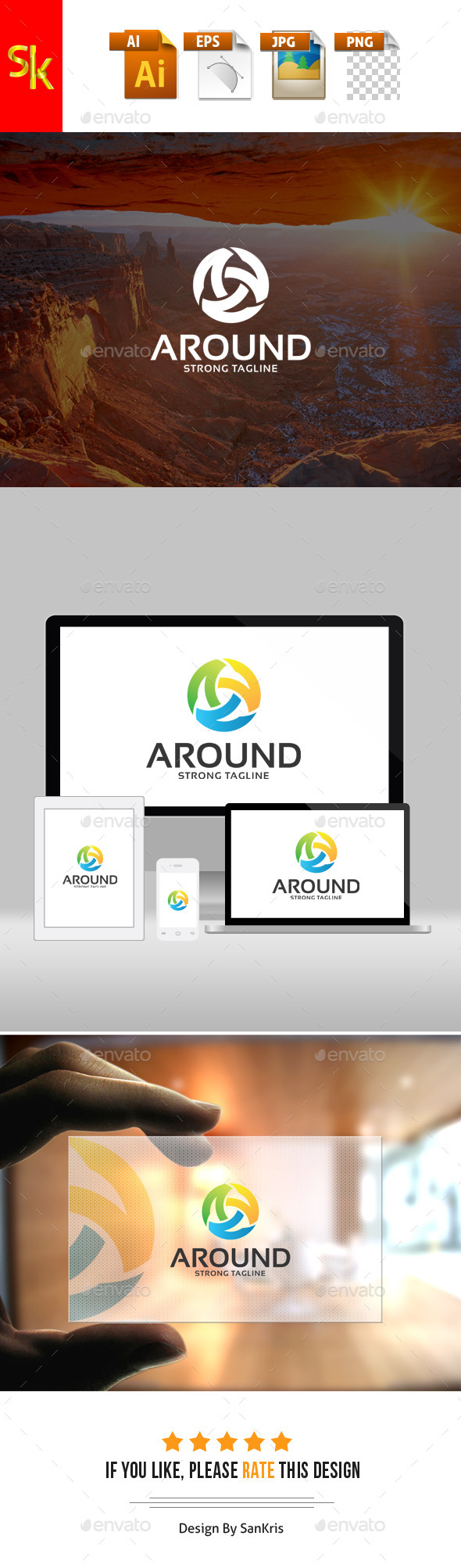 Around Letter Logo - Letters Logo Templates