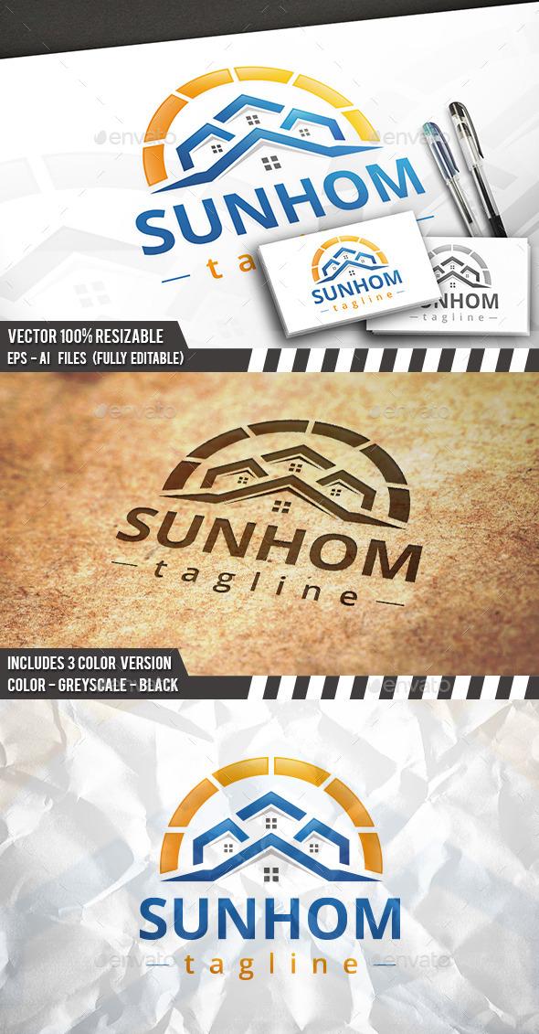Beach Houses Logo - Buildings Logo Templates
