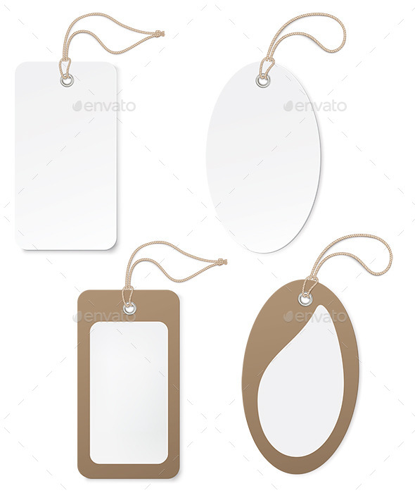 White and Brown Paper Price Tags - Man-made Objects Objects