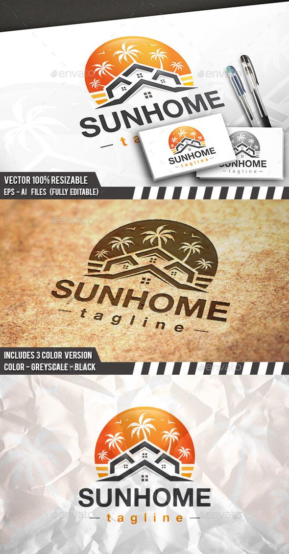 Real Estate Beach Logo - Buildings Logo Templates
