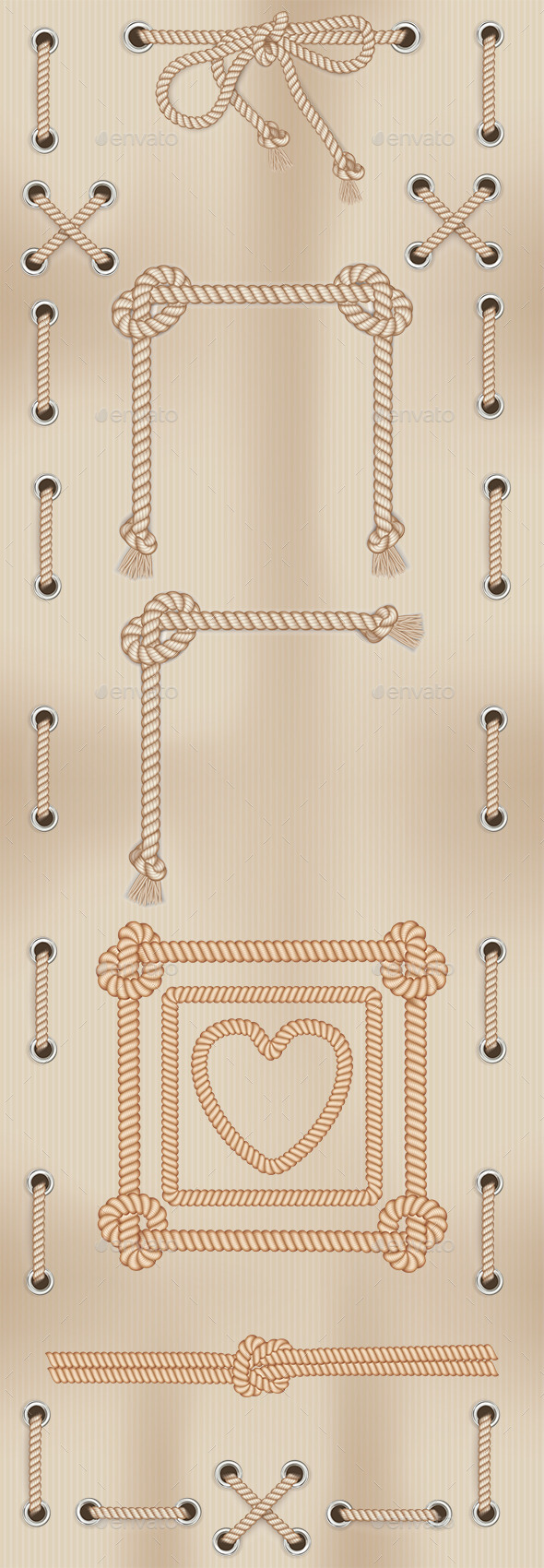 Frames Made From Rope - Backgrounds Decorative