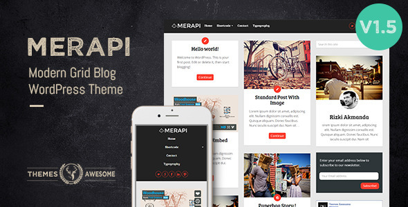 Merapi – Modern Grid Blog Theme