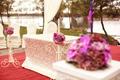 Floral decor for wedding ceremony