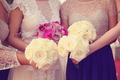 Bride and bridesmaid's wedding bouquet