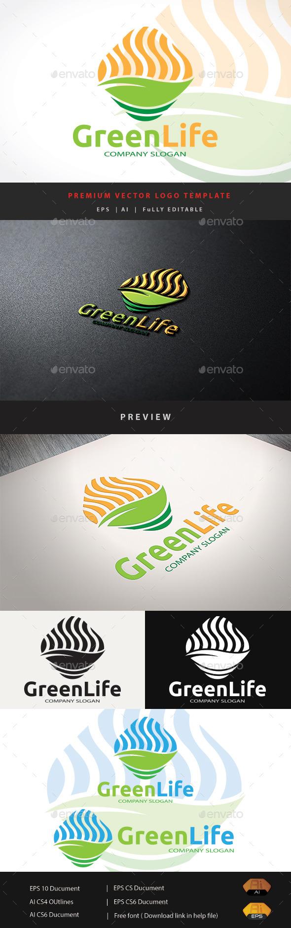 Green Life - Nature Logo Templates
