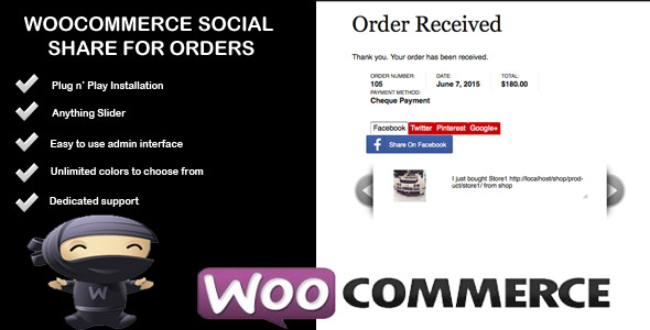 Woocommerce Social Share For Orders - CodeCanyon Item for Sale