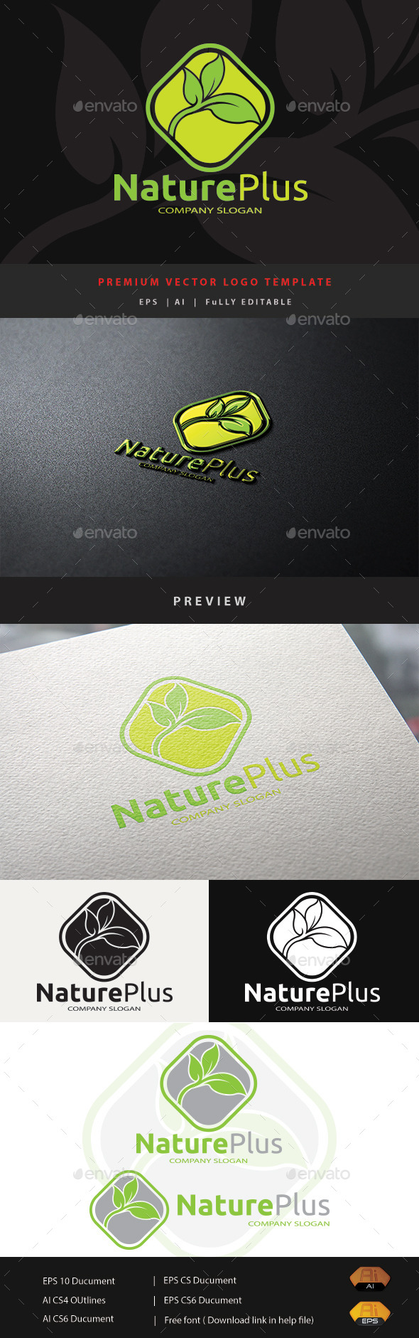 Nature Plus - Nature Logo Templates
