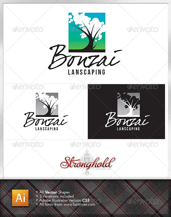 Green Tree Bonzai Logo - Nature Logo Templates