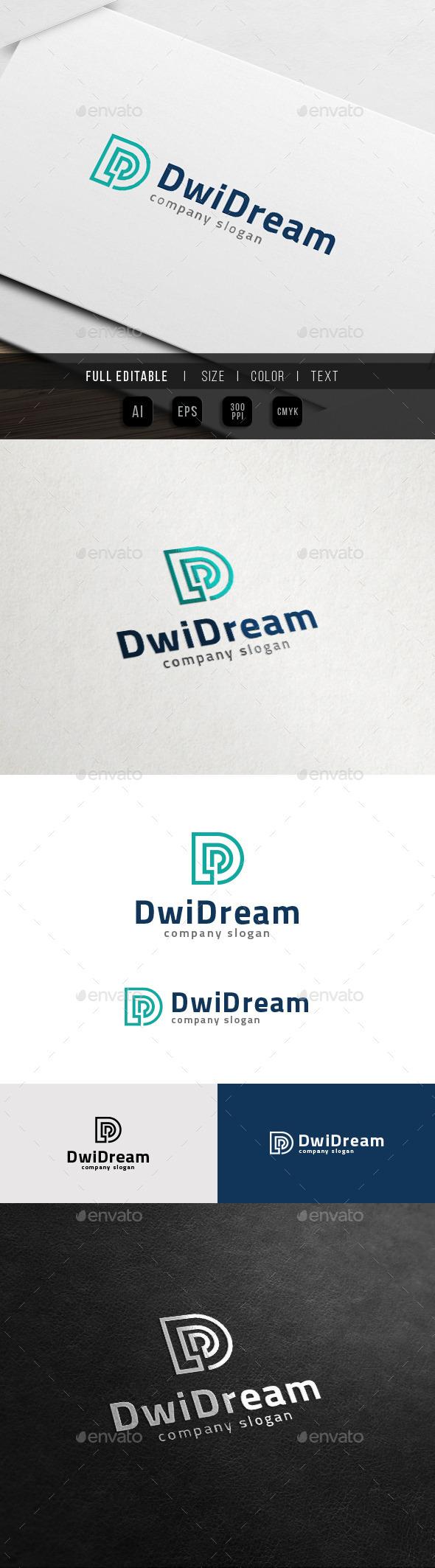 D Logo - Data Digital Dream - Letters Logo Templates