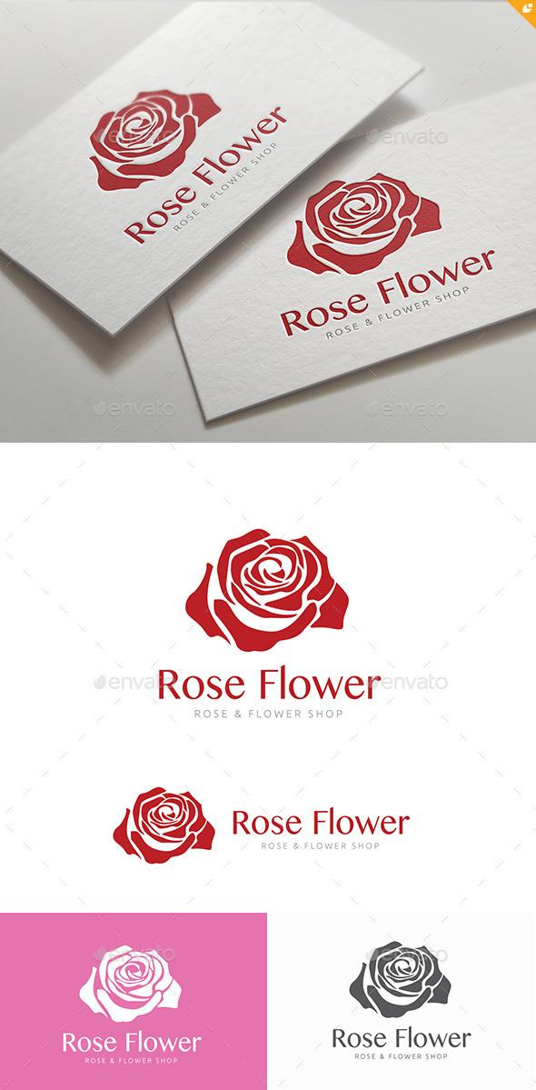 Rose Flower Shop   - Nature Logo Templates