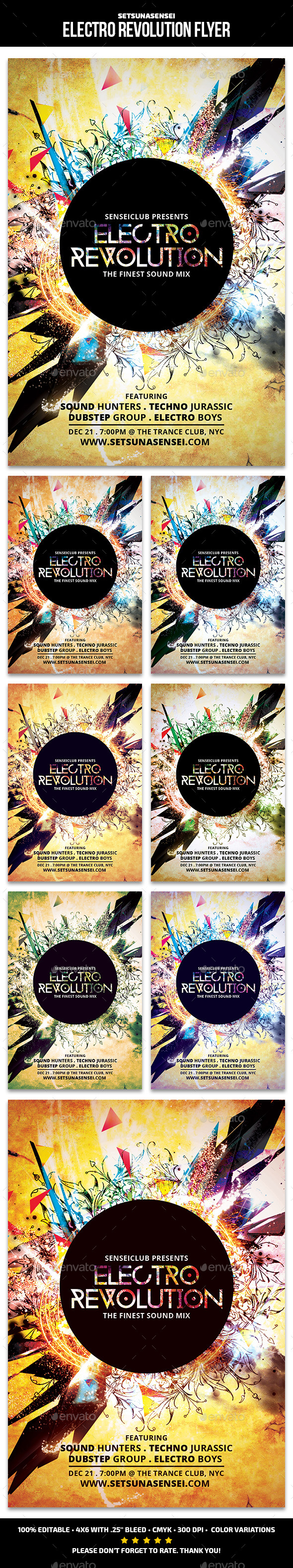 Electro Revolution Flyer - Clubs & Parties Events