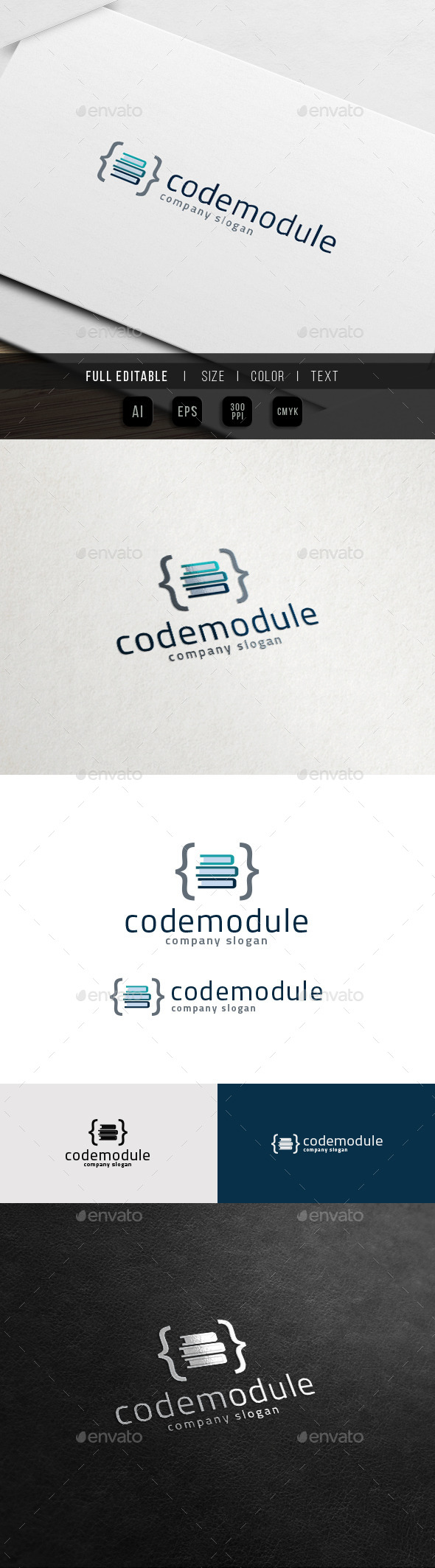 Coding Tutorial - Website Online Course Logo - Symbols Logo Templates