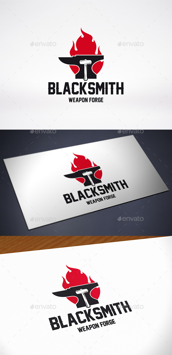 Anvil Fire Logo Template - Objects Logo Templates