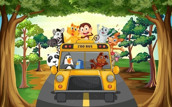 Animals and Bus - Animals Characters