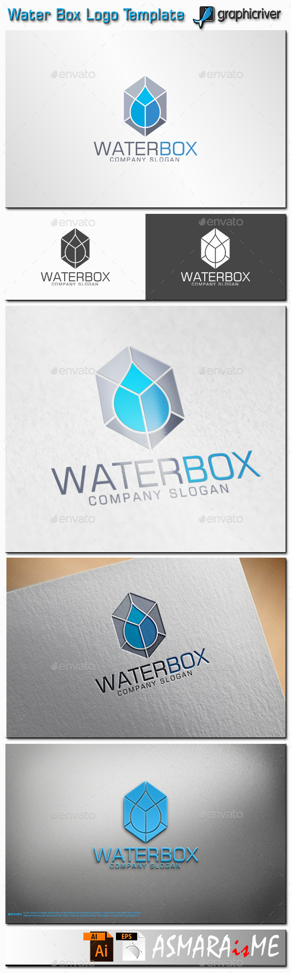 Water Box Logo - Abstract Logo Templates