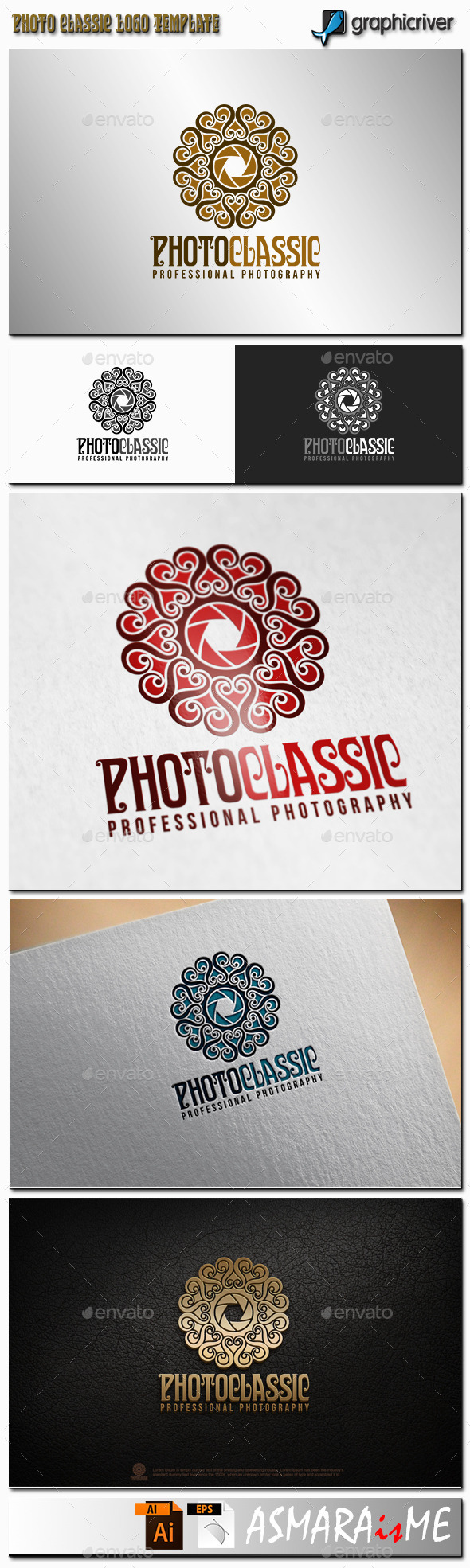 Camera Logo - Classic Photography Studio - Crests Logo Templates