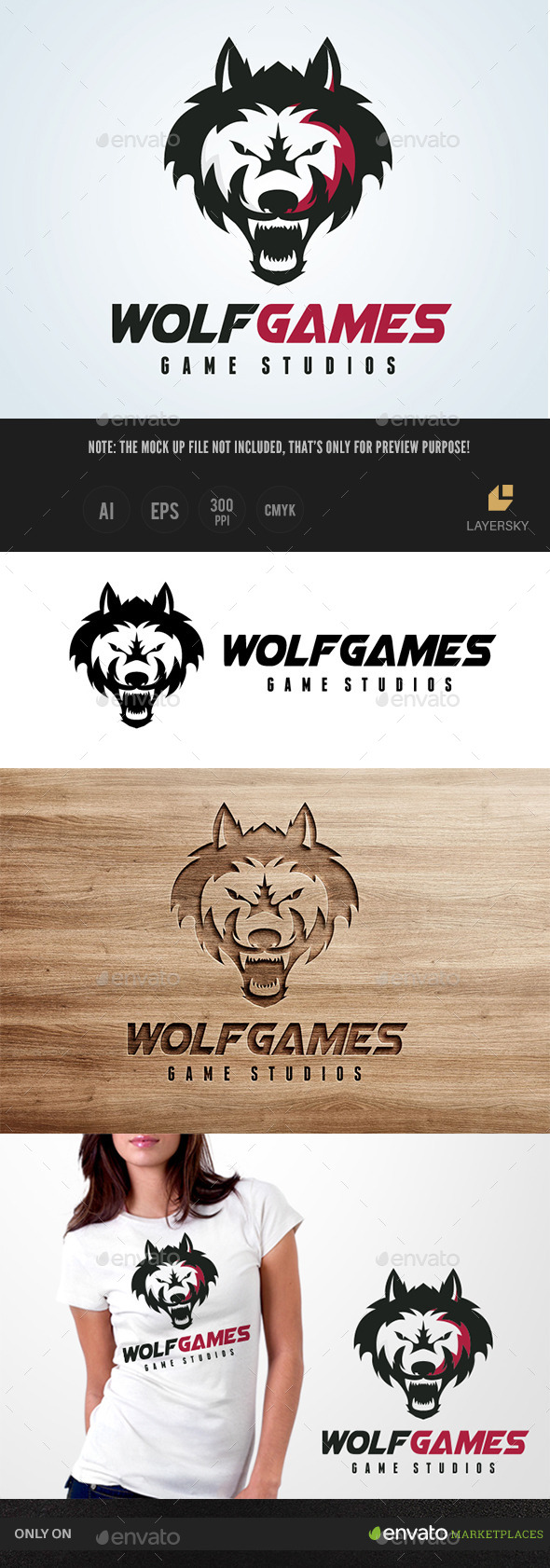 Wolf Games - Animals Logo Templates