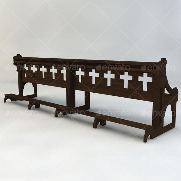 Church Bench By Vegark 3docean
