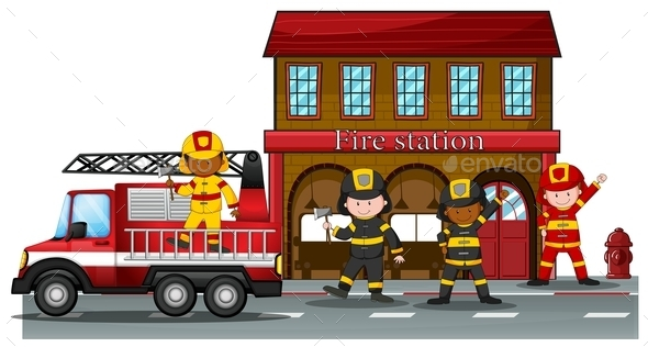 Fire Station - People Characters