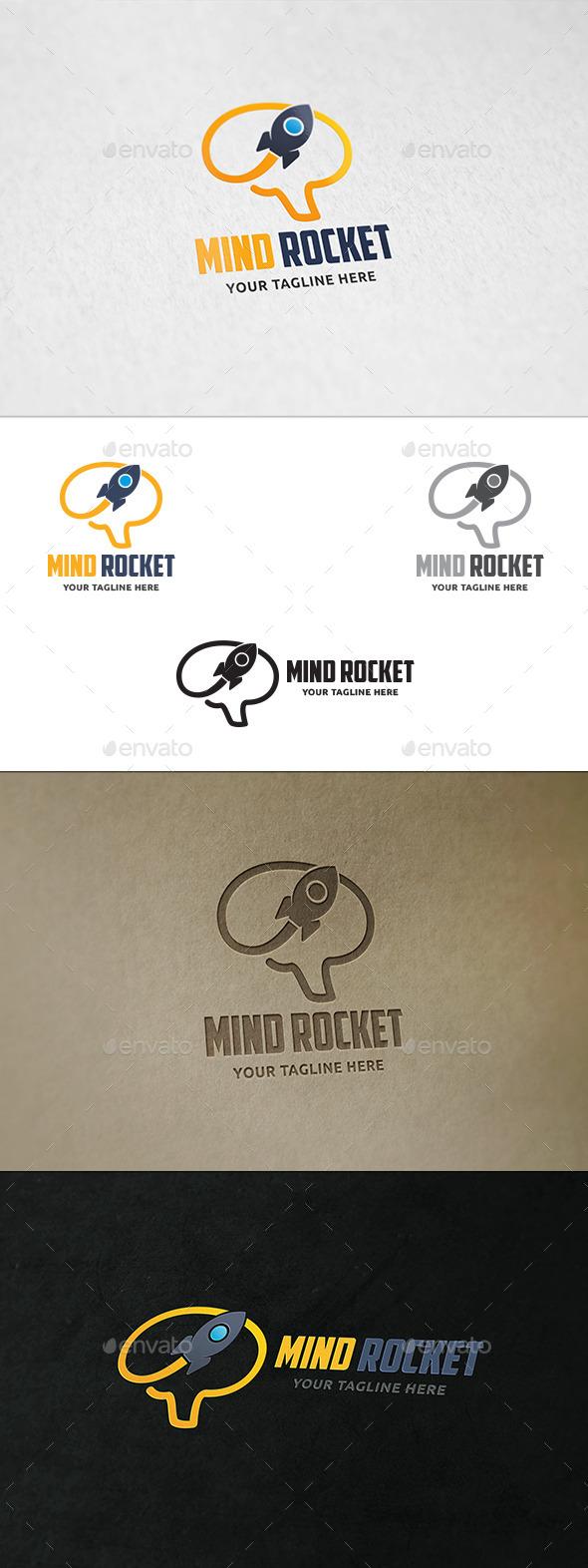 Mind Rocket - Logo Template - Symbols Logo Templates