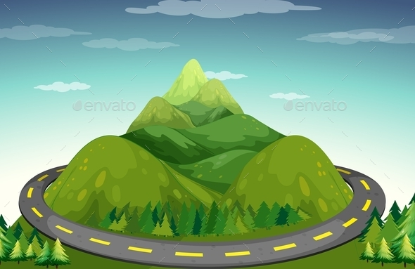 Road and Mountain - Landscapes Nature