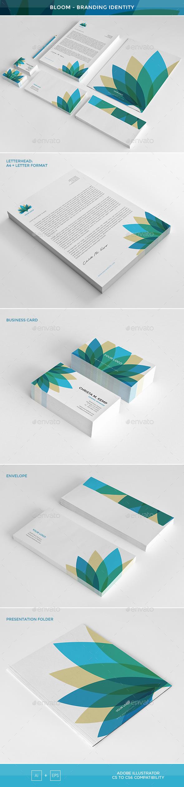 Bloom - Branding Identity - Stationery Print Templates