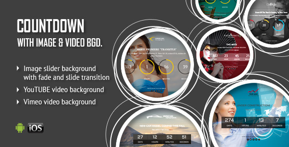 CountDown With Image or Video Background - CodeCanyon Item for Sale