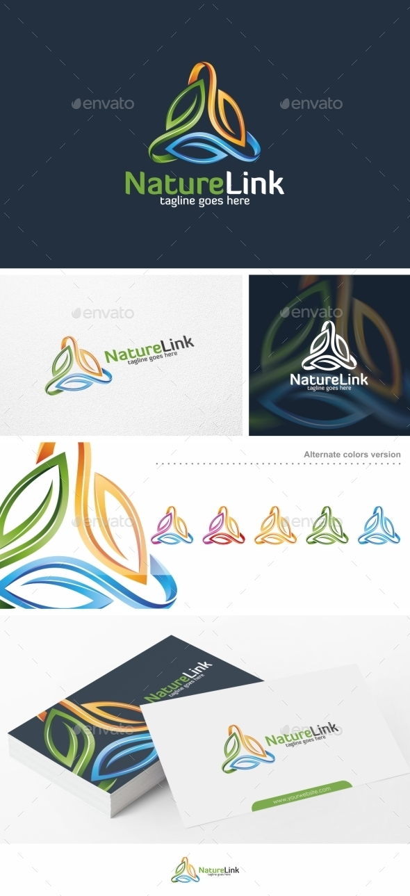 Nature Link / Leaf - Logo Template - Nature Logo Templates