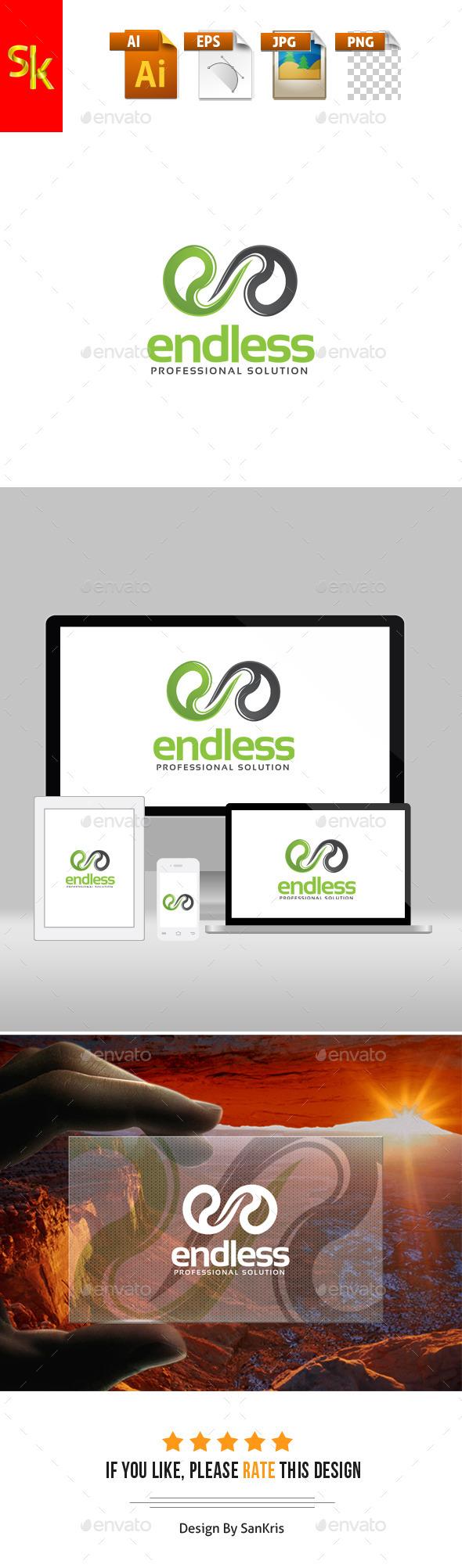 Endless E Logo - Letters Logo Templates