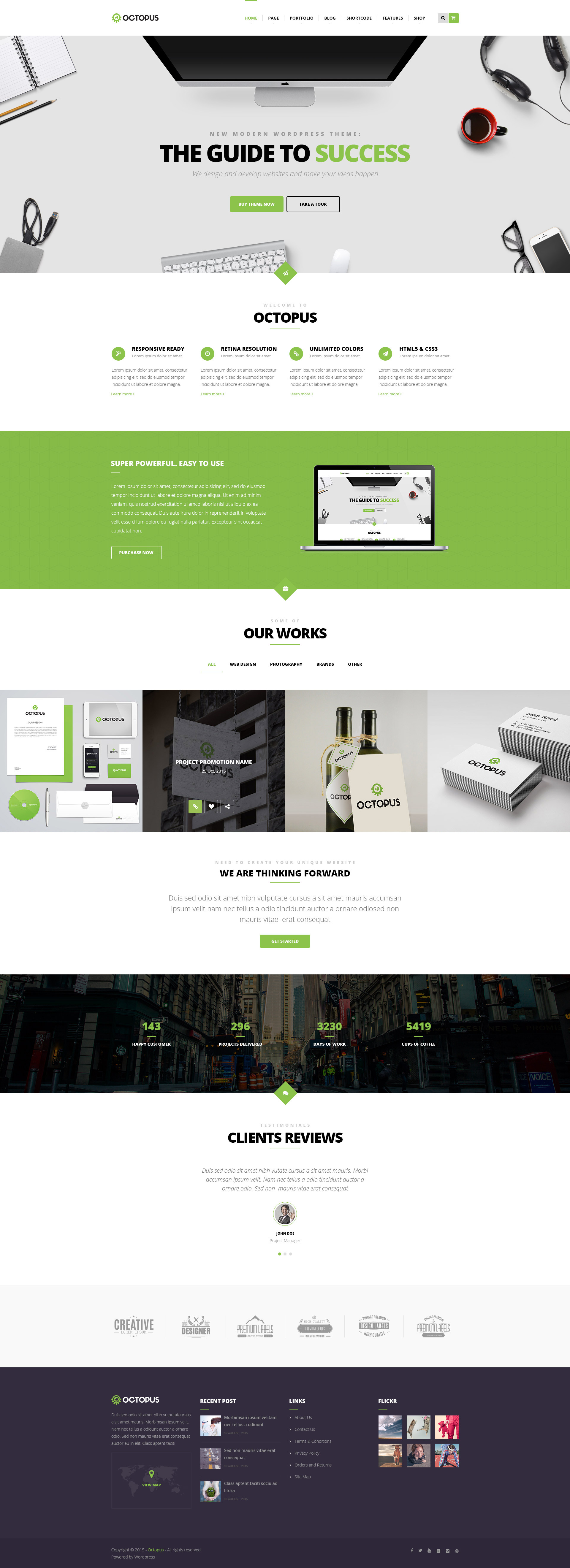 Octopus multipurpose business wordpress theme by opalwp themeforest octopus multipurpose business wordpress theme wajeb Gallery