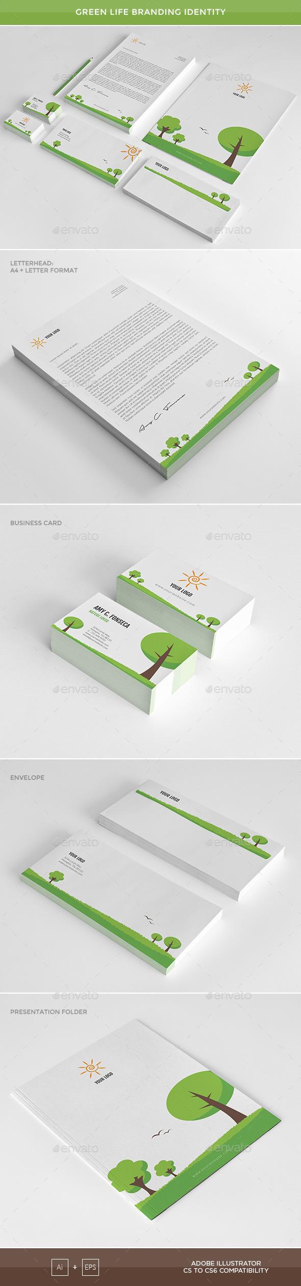 Green Life - Branding Identity - Stationery Print Templates